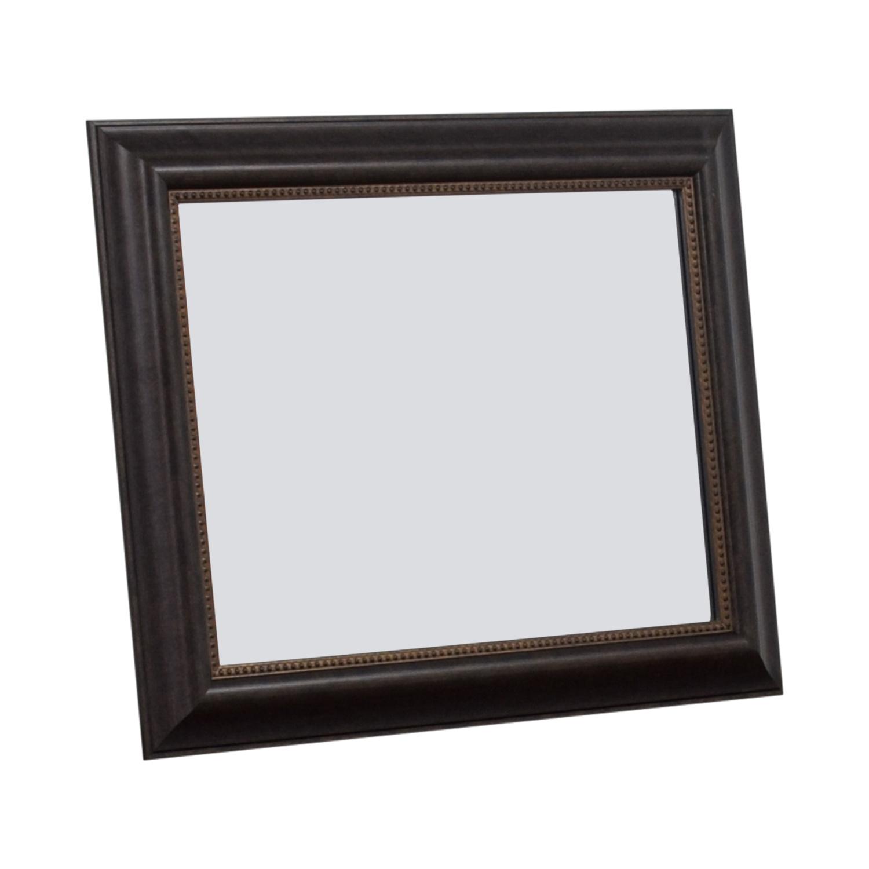 Wood Framed Mirror on sale