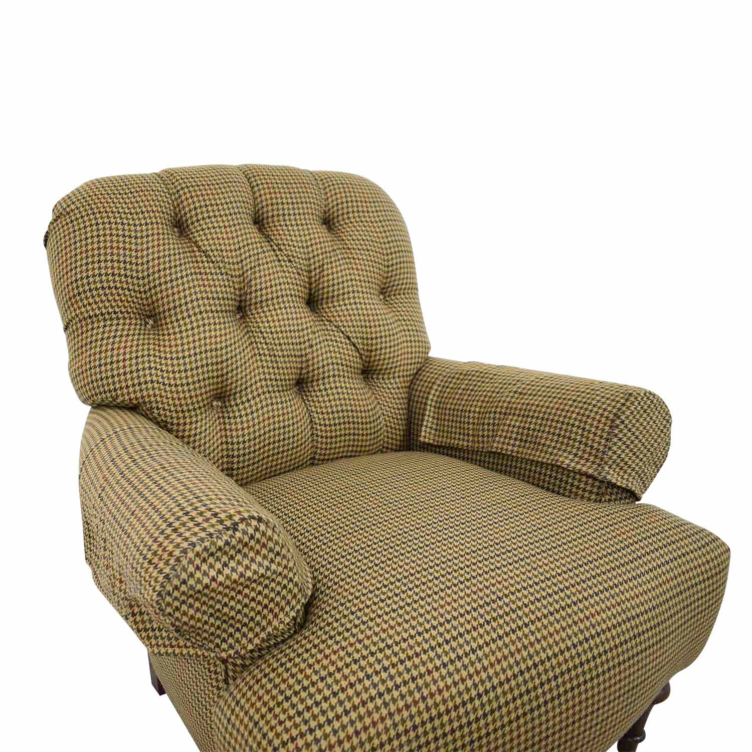 Designer Houndstooth Tufted Accent Chair / Accent Chairs