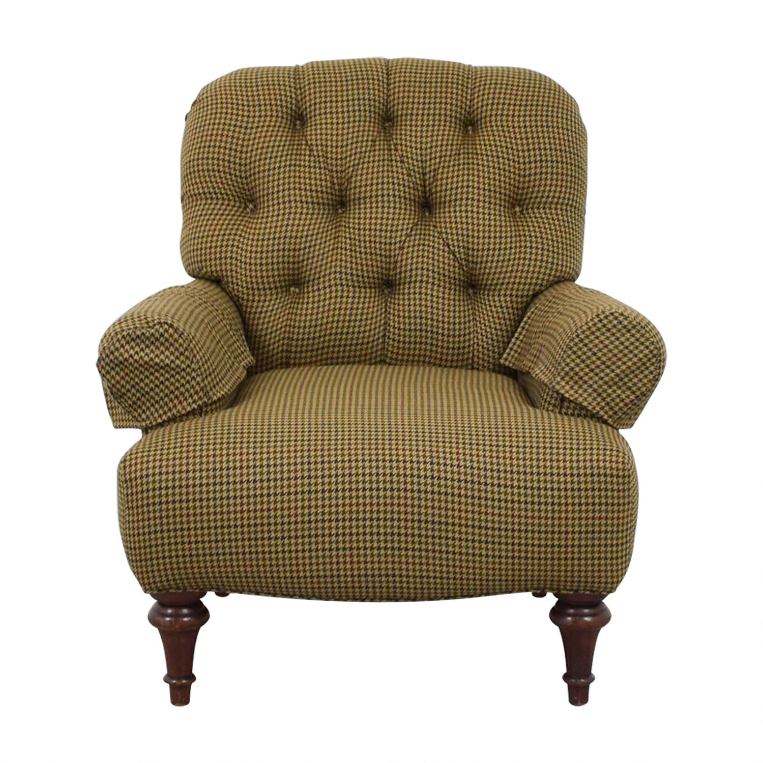 Designer Houndstooth Tufted Accent Chair nyc