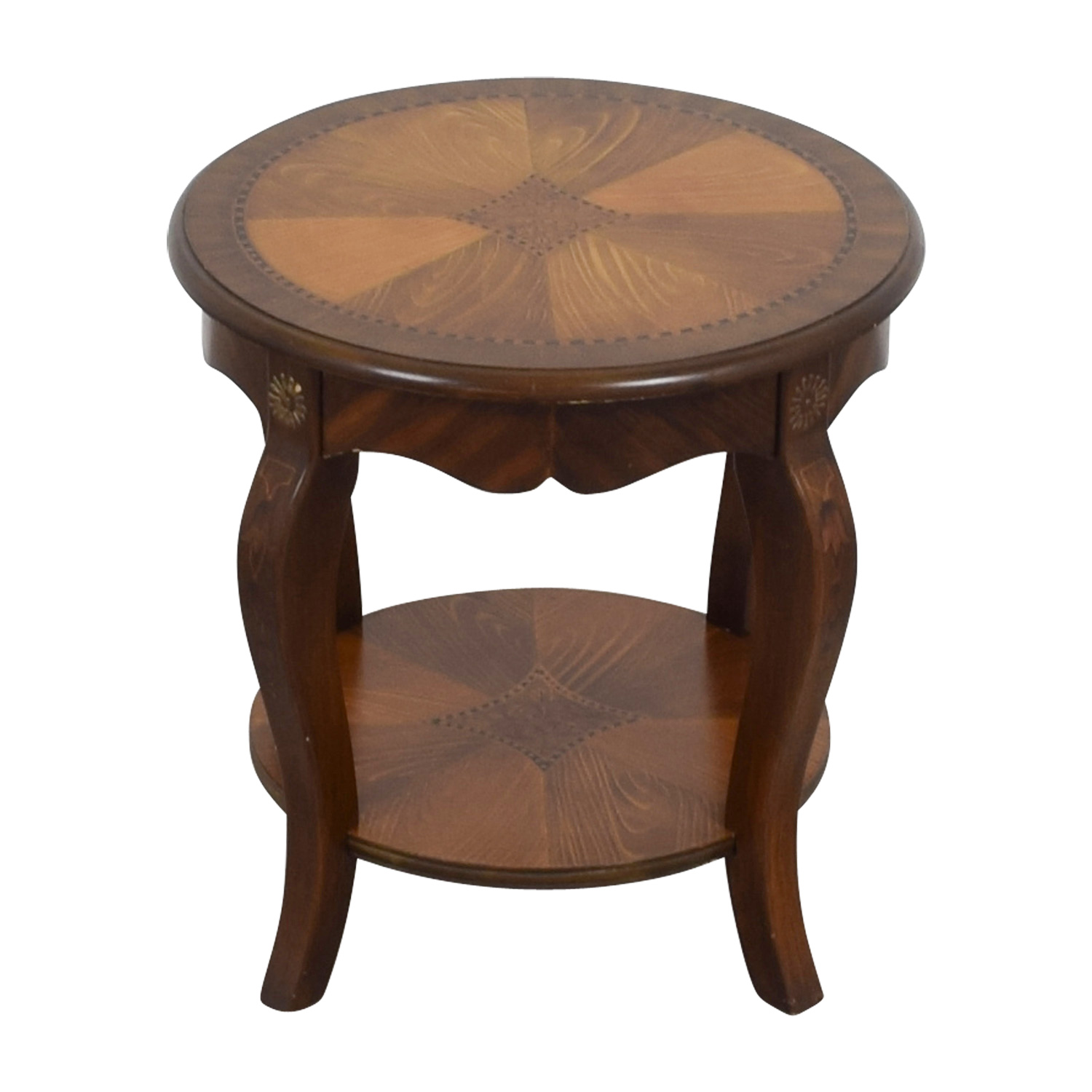 Painted Multi-Wood Side Table for sale
