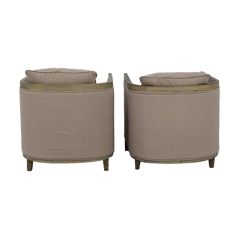 Carbon Loft Carbon Loft Tull Beige Linen Lounge Accent Chairs PAIGE