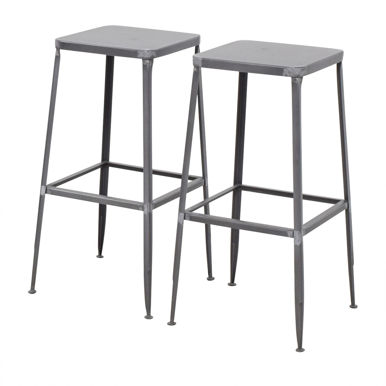 CB2 CB2 Flint Steel Bar Stools Tables