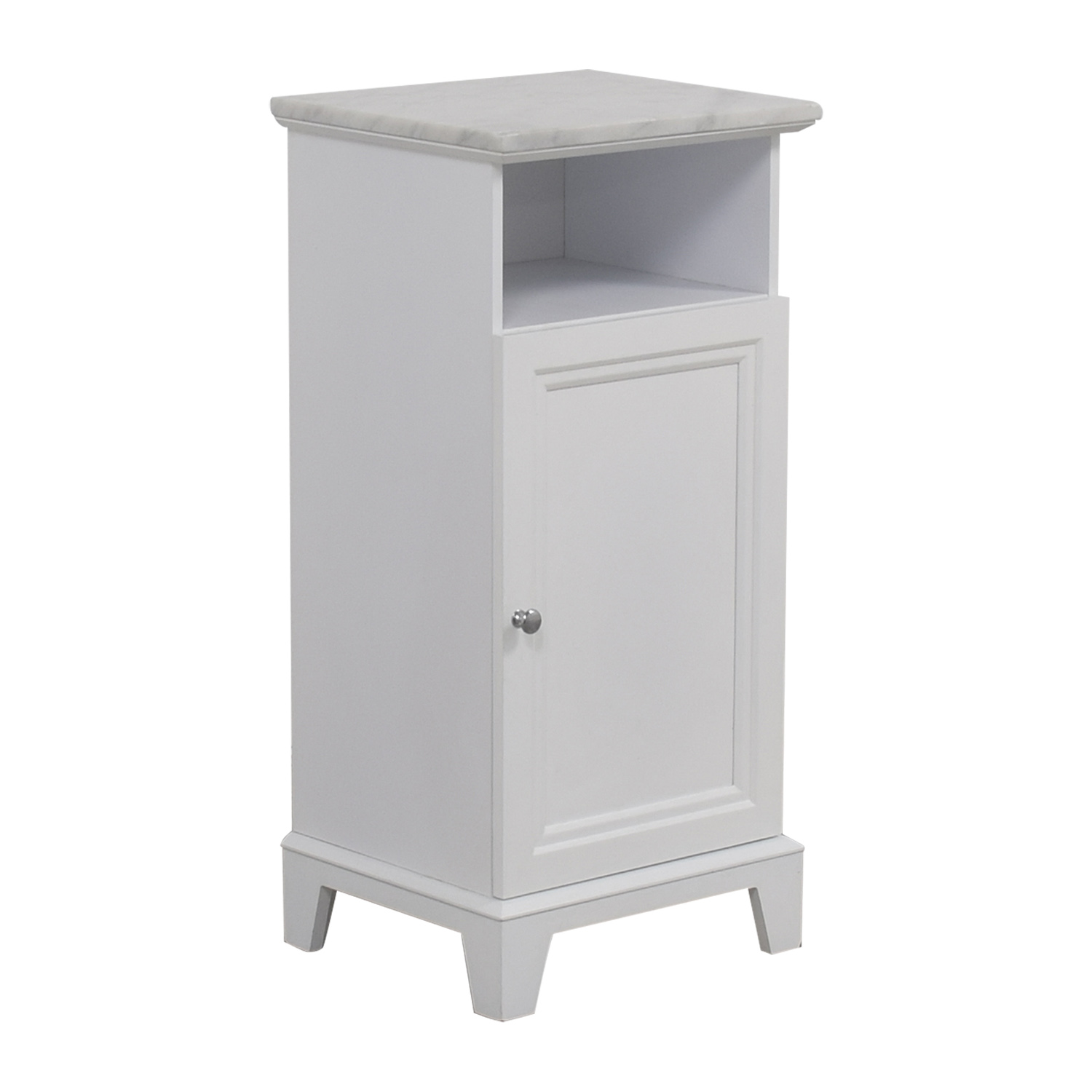 Marble Top White Cabinet
