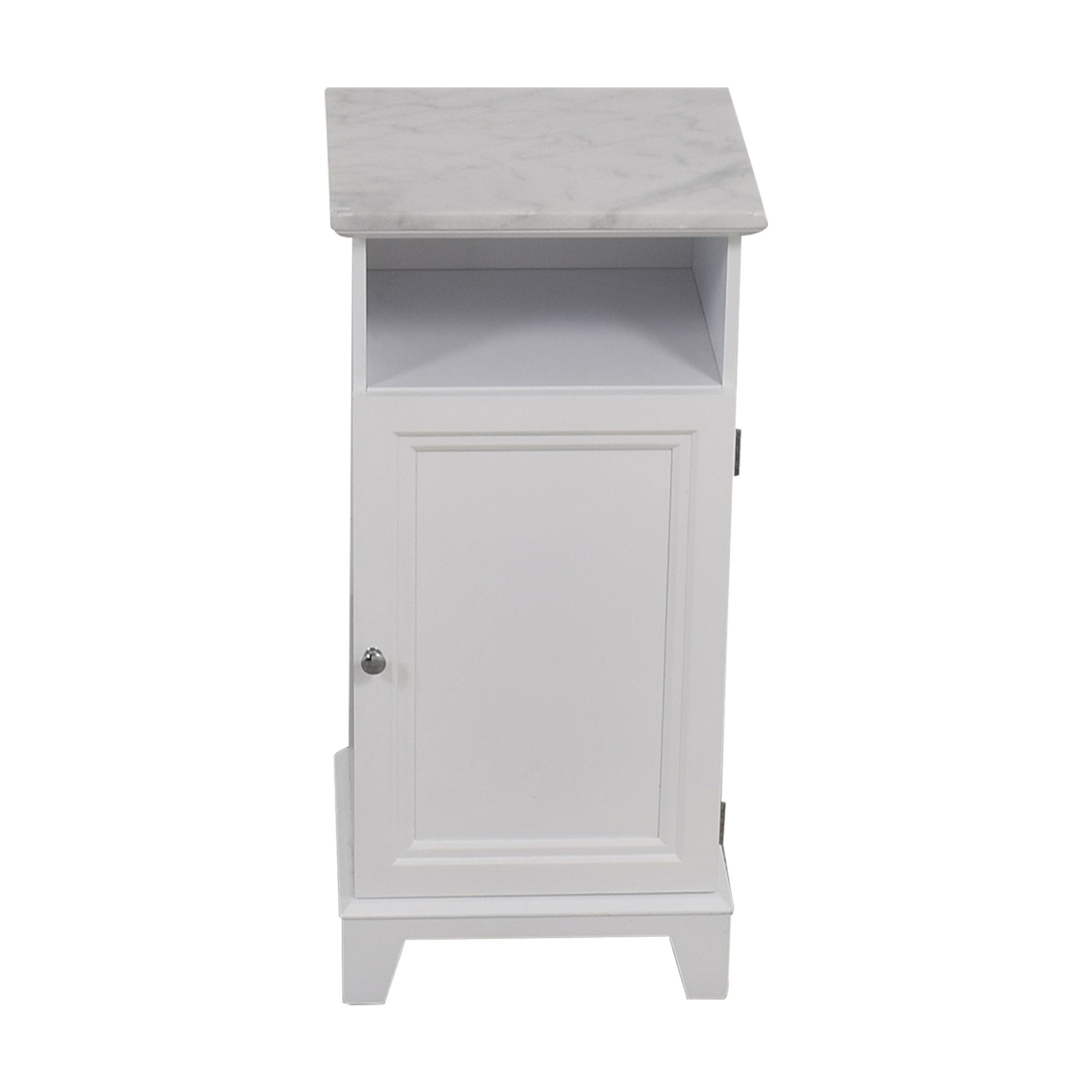 Marble Top White Cabinet nj