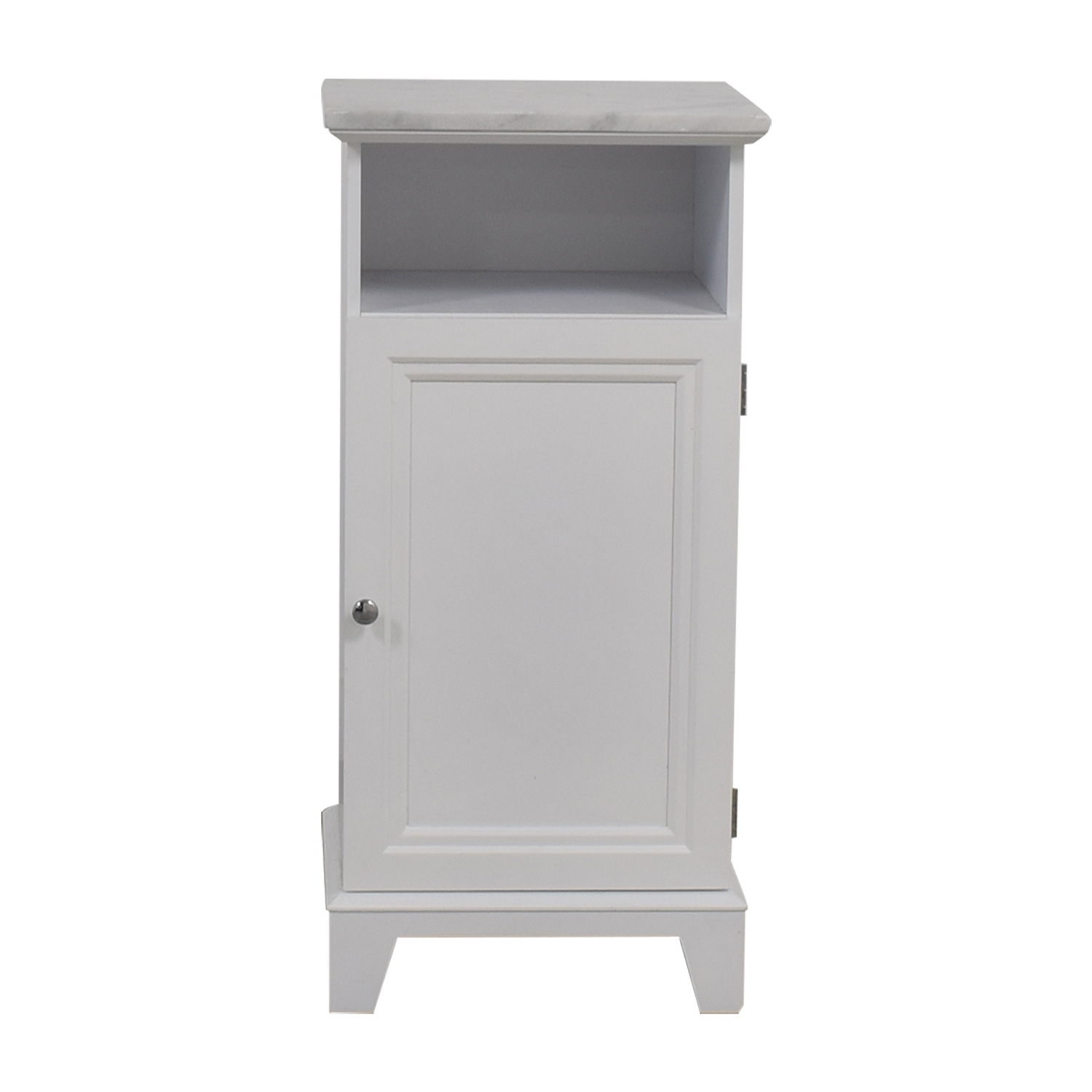 Marble Top White Cabinet discount