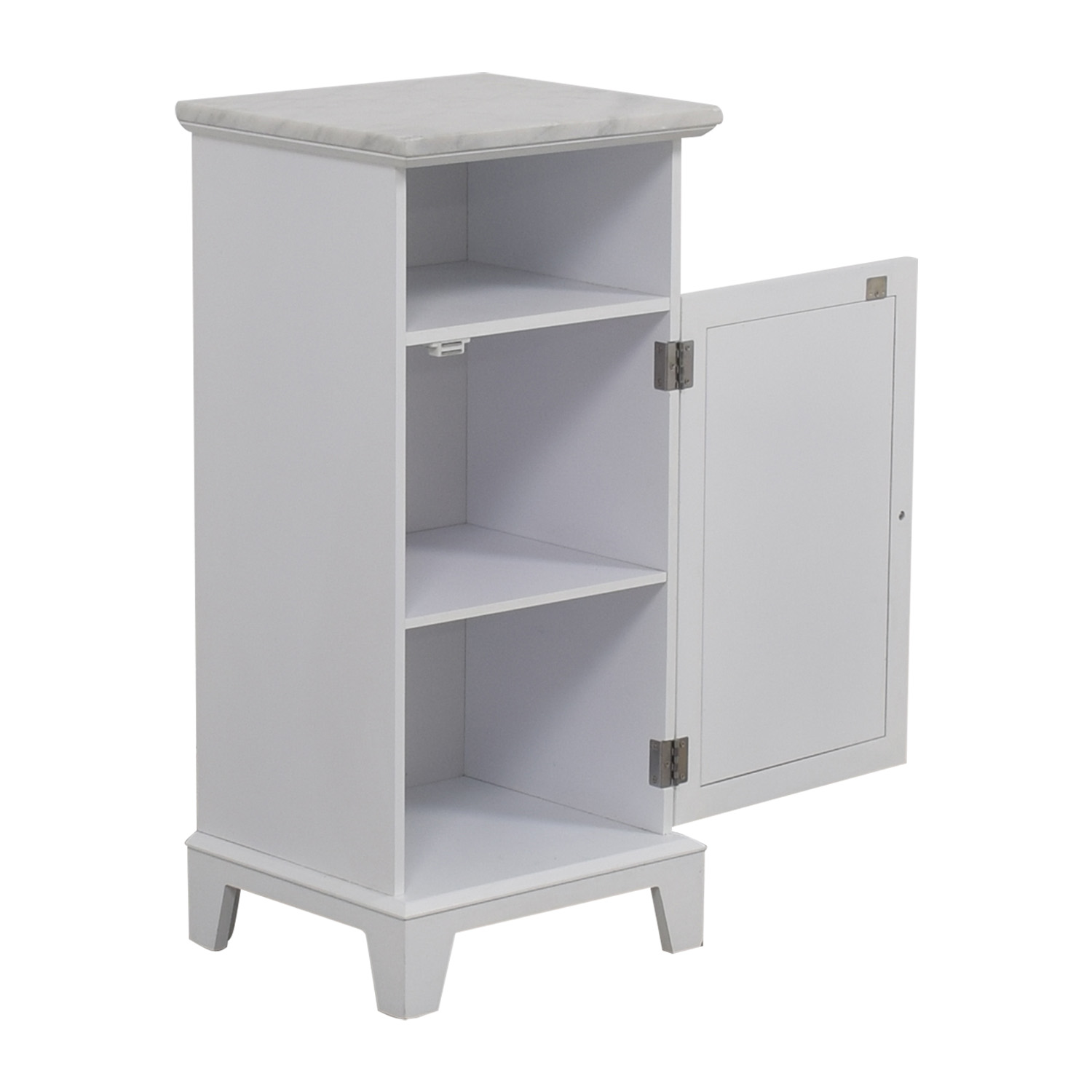 buy Marble Top White Cabinet