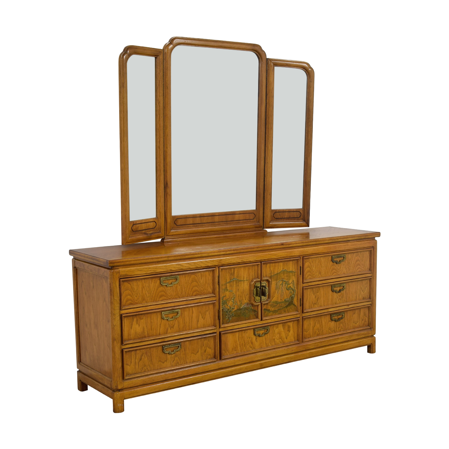 shop Thomasville Thomasville Nine-Drawer Dresser with Folding MIrror online
