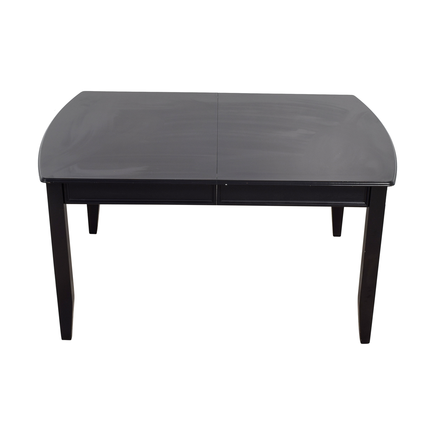 Black Wood Expandable Dining Table second hand