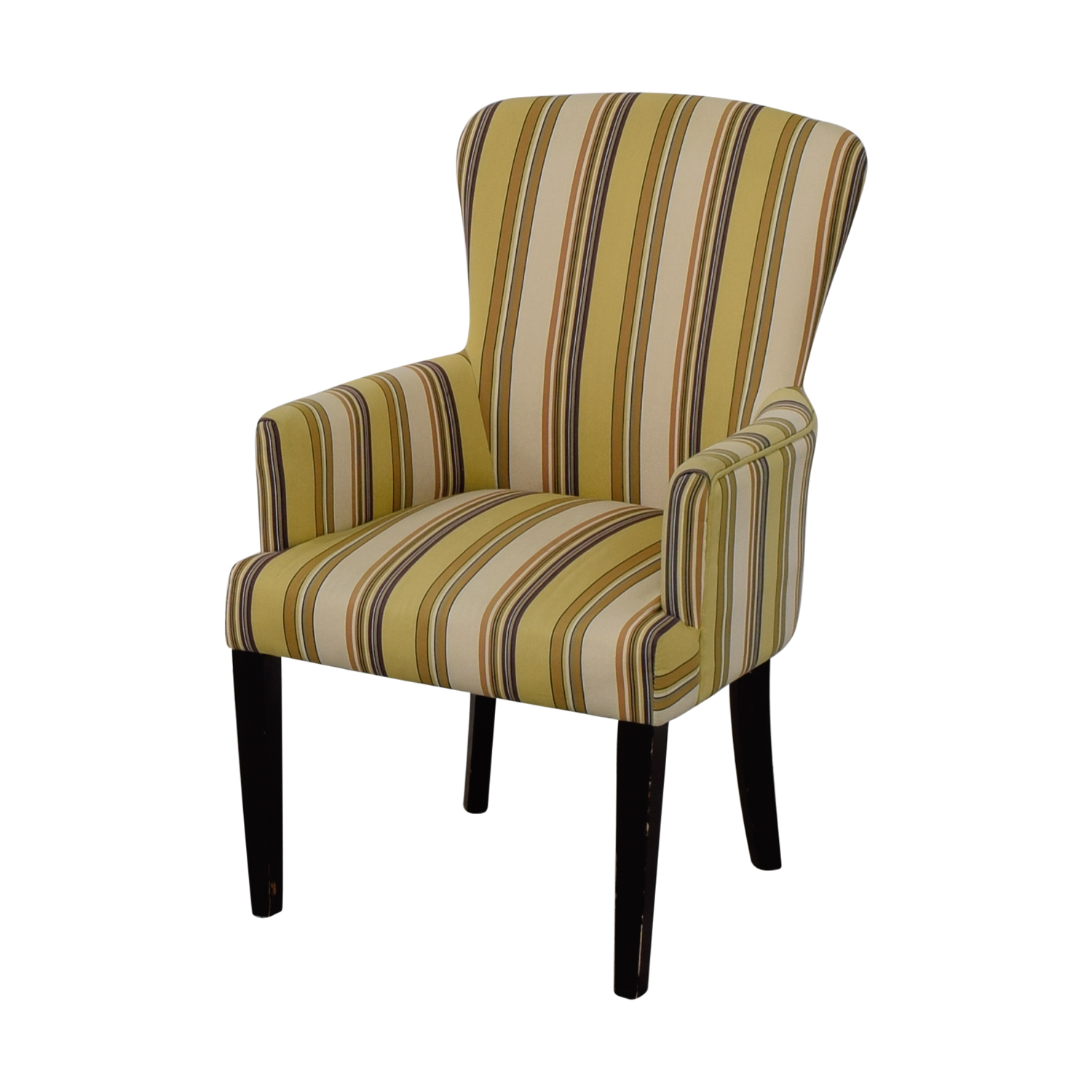 World Market Multi Yellow Striped Accent Chair Chairs