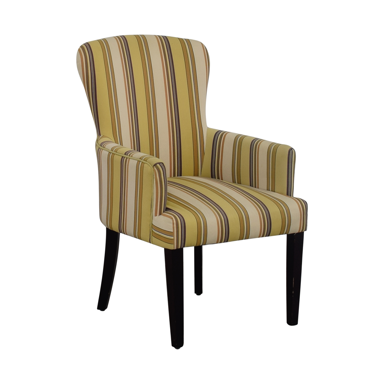 ... World Market World Market Multi Yellow Striped Accent Chair Nj ...