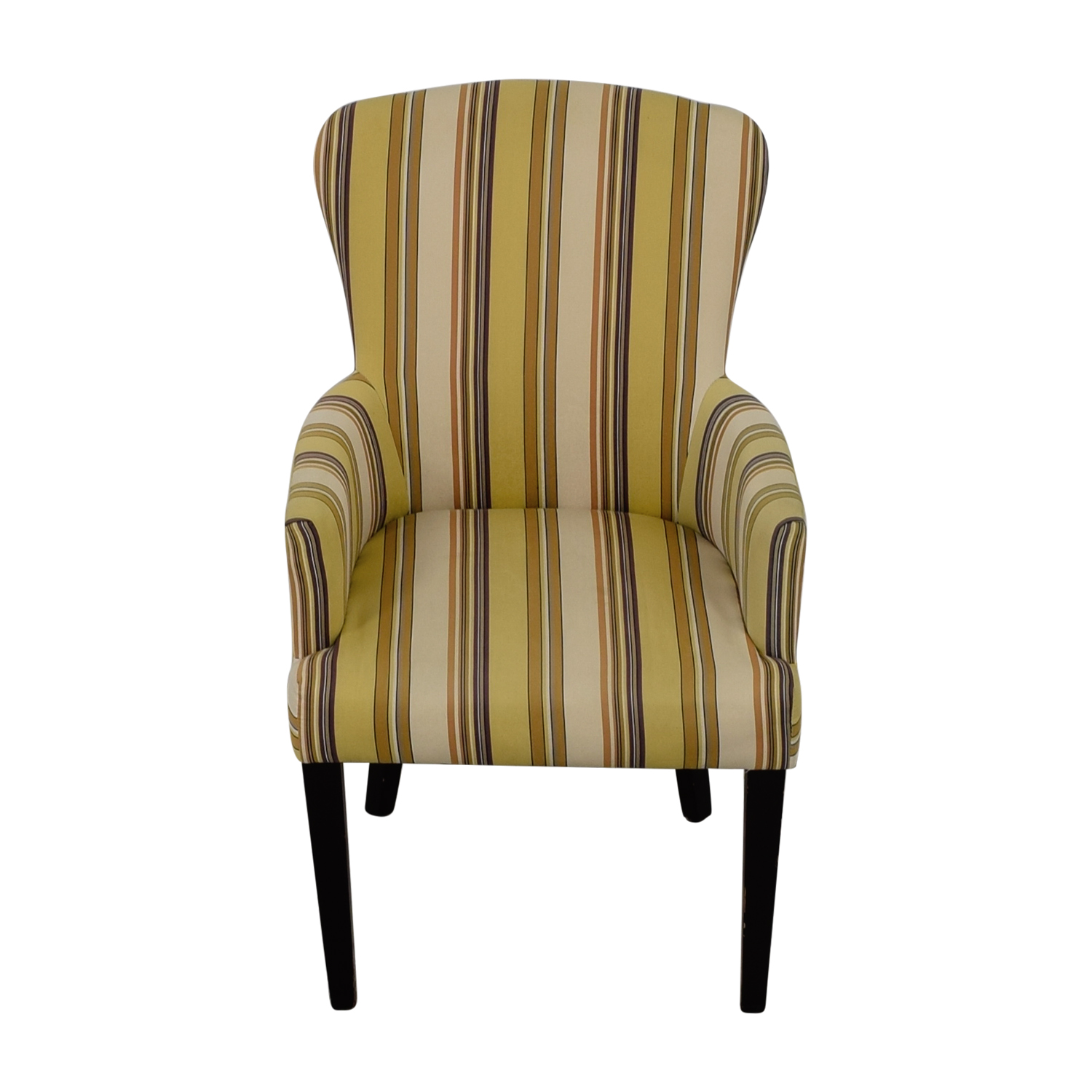 World Market Multi Yellow Striped Accent Chair World Market