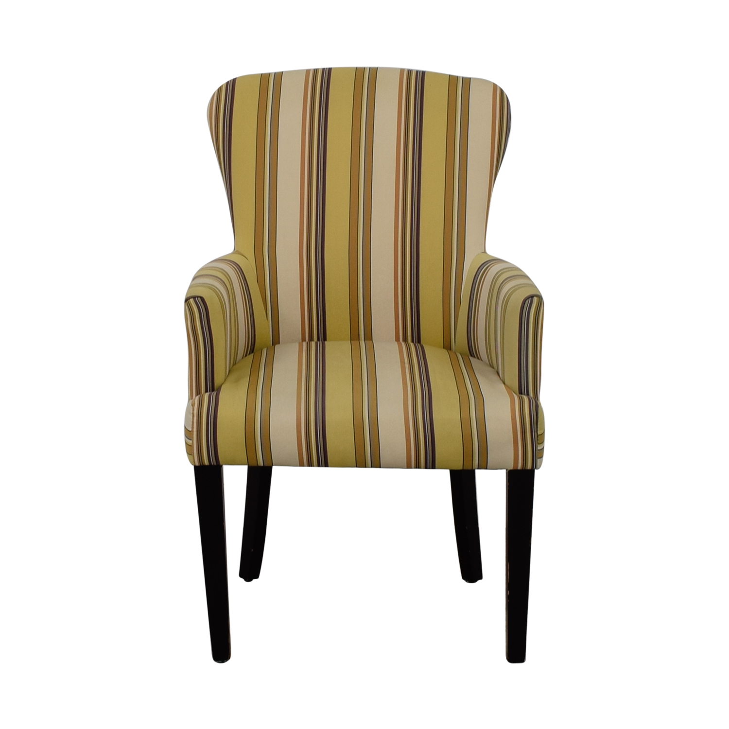 World Market World Market Multi Yellow Striped Accent Chair dimensions