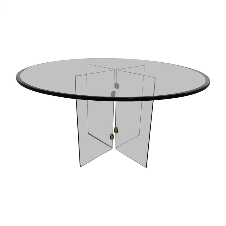 Modern Round Glass Table