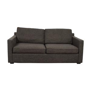 Crate & Barrel Crate & Barrel Davis Grey Two-Cushion Sofa nyc
