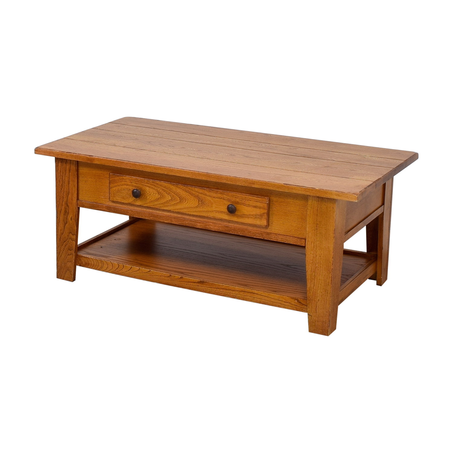 Wood Single Drawer Coffee Table