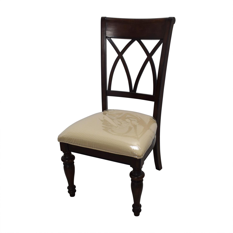 Macys Macys Wood Dining Set with Beige Upholstery