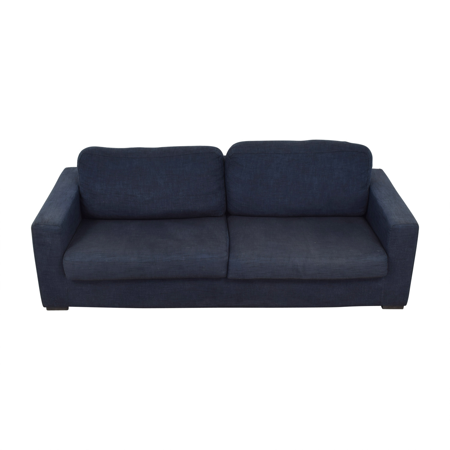 buy Meridiani Italian Navy Linen Two-Cushion Couch Meridiani Classic Sofas