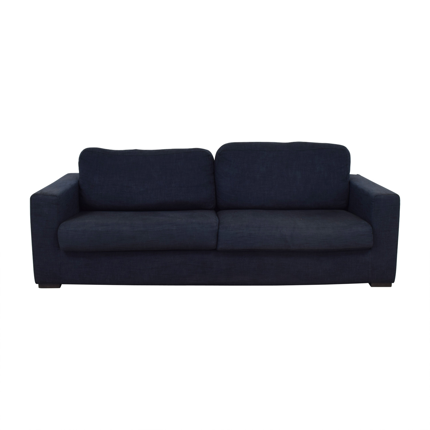 Meridiani Meridiani Italian Navy Linen Two-Cushion Couch dimensions