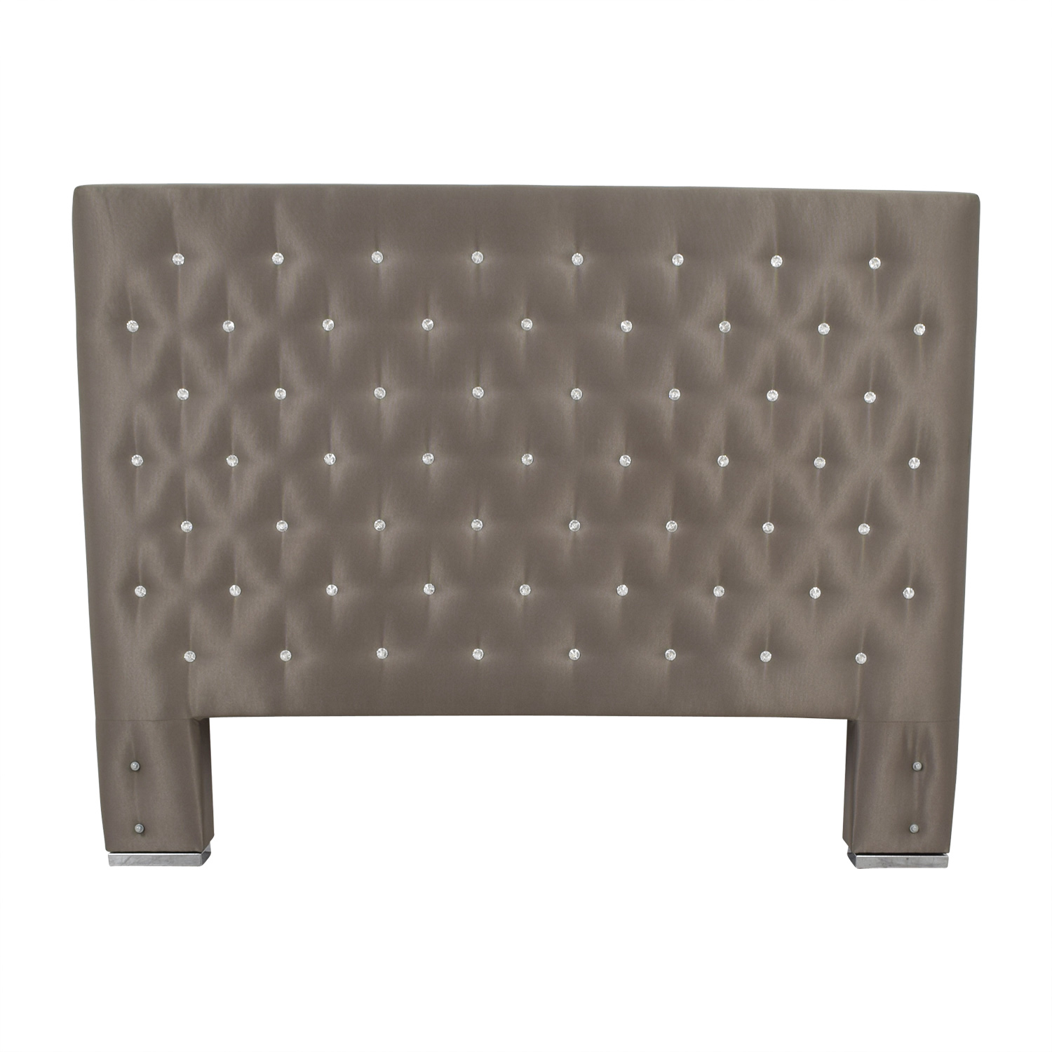 Taupe Diamond Tufted King Headboard on sale