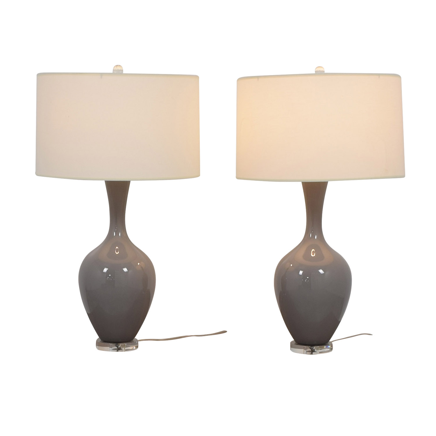 Grey Table Lamps Grey / White