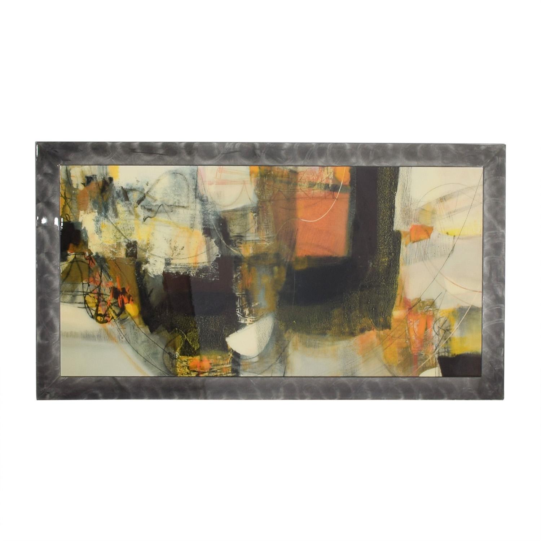 buy Multi-Colored Art Work in Pewter Frame