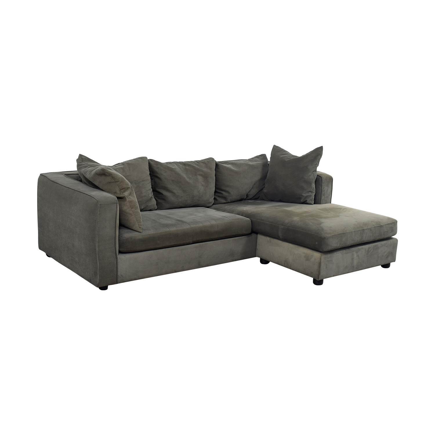 76% OFF - ABC Carpet & Home ABC Carpet & Home Grey L- Shaped Couch / Sofas