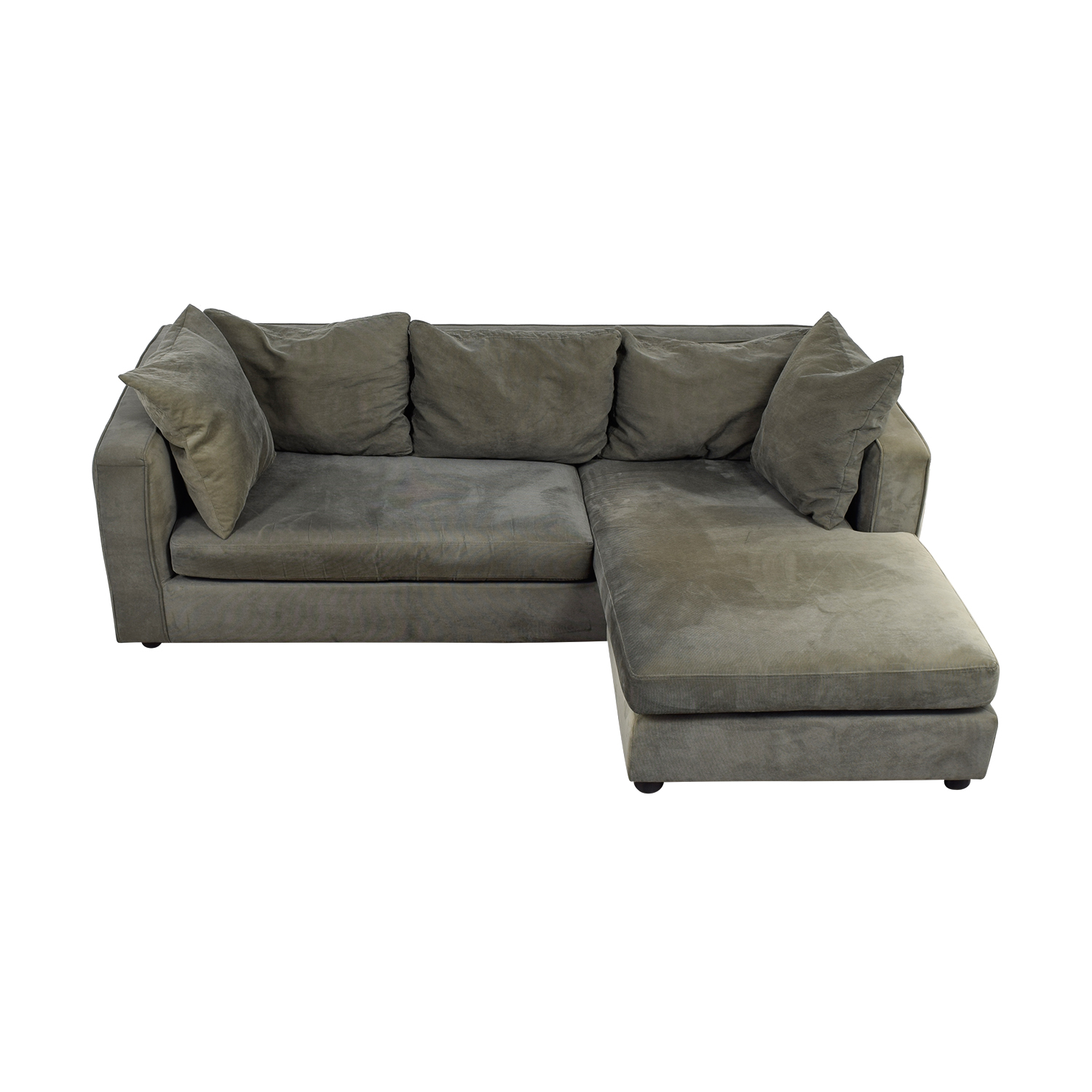 ABC Carpet & Home Grey L- Shaped Couch / Sofas