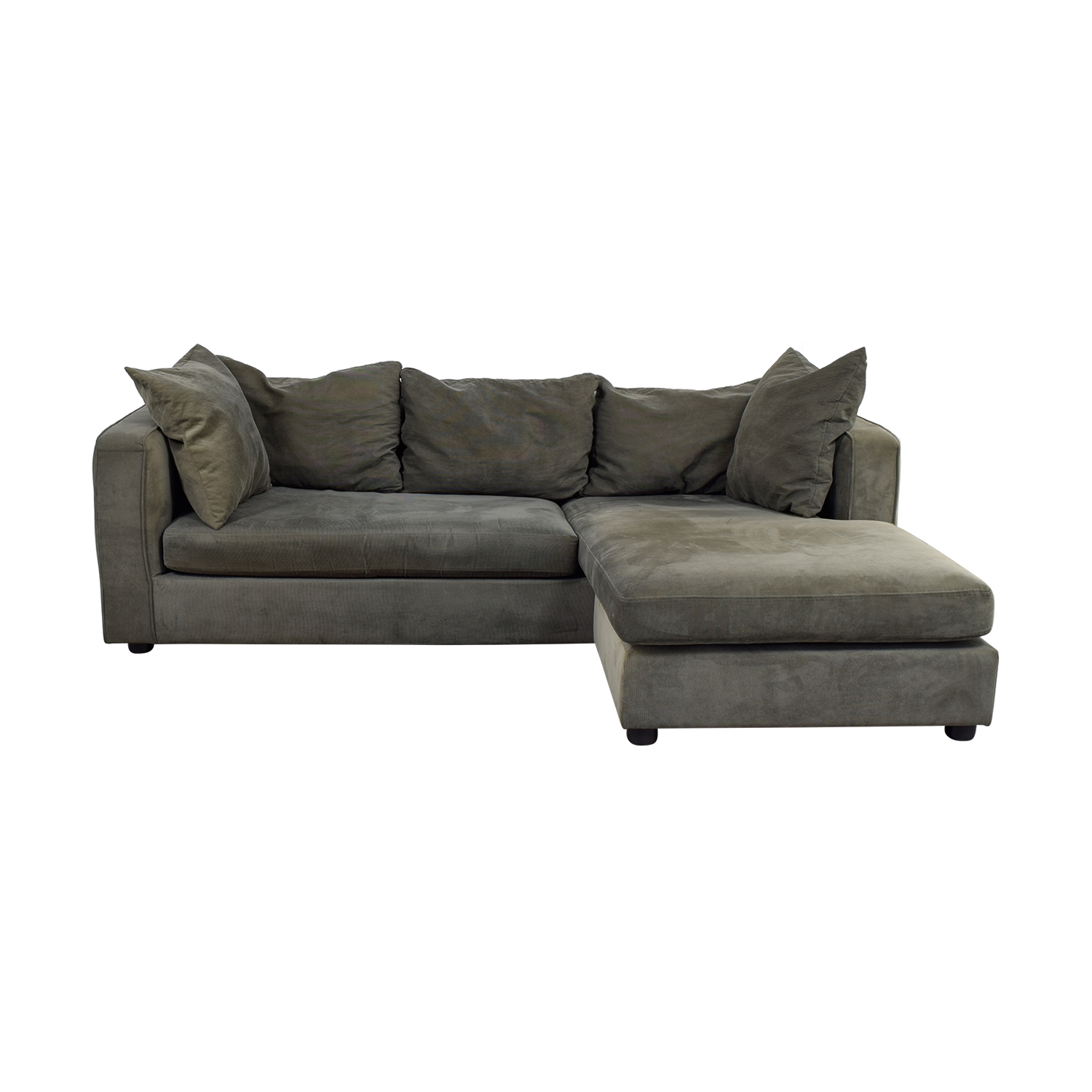 ABC Carpet & Home ABC Carpet & Home Grey L- Shaped Couch grey