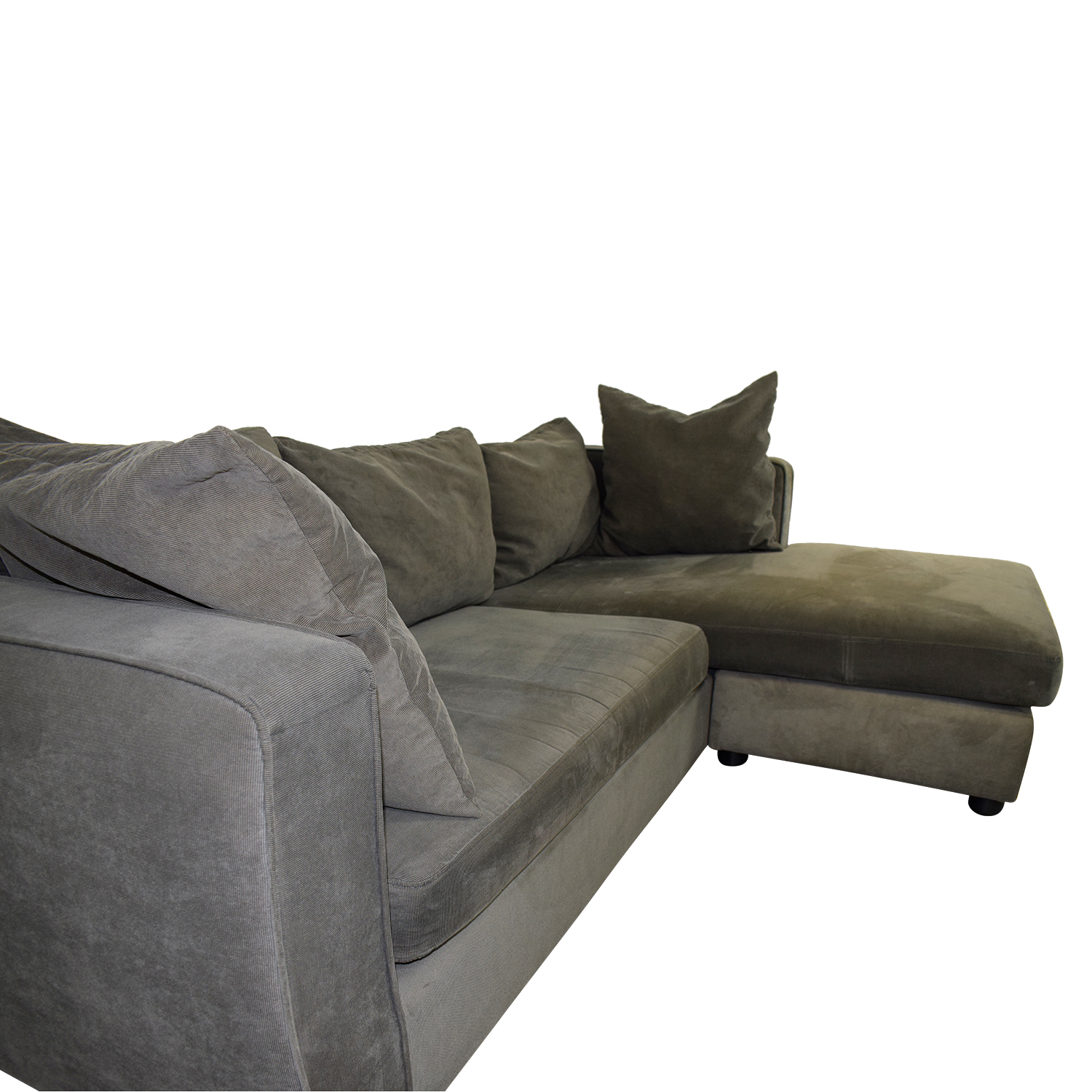 ABC Carpet & Home Grey L- Shaped Couch ABC Carpet & Home