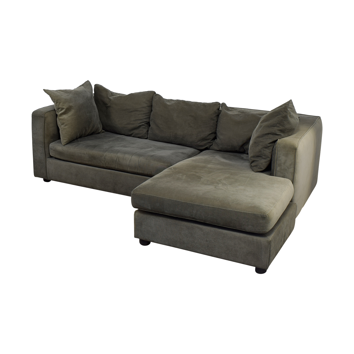 shop ABC Carpet & Home Grey L- Shaped Couch ABC Carpet & Home Sectionals
