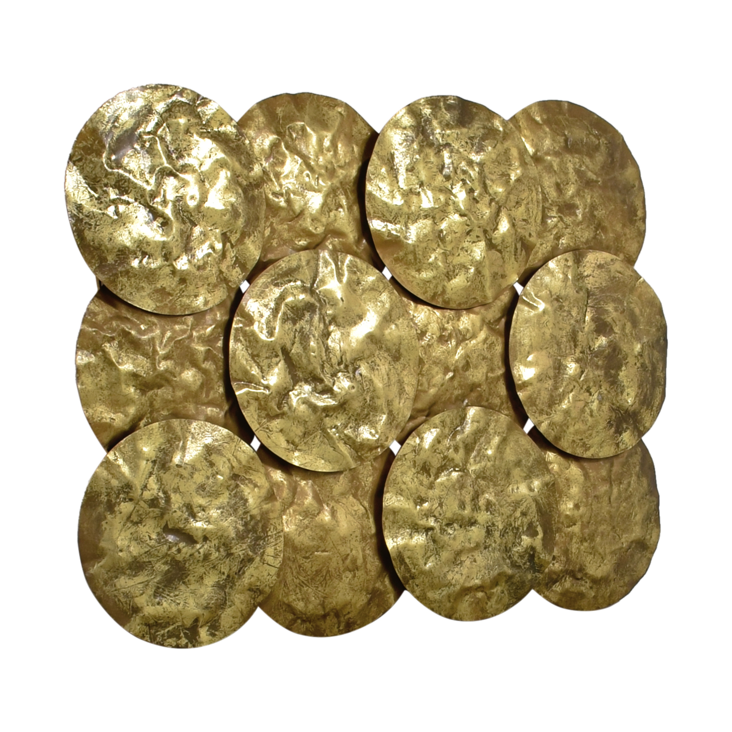 Gold Disks Wall Collage nj