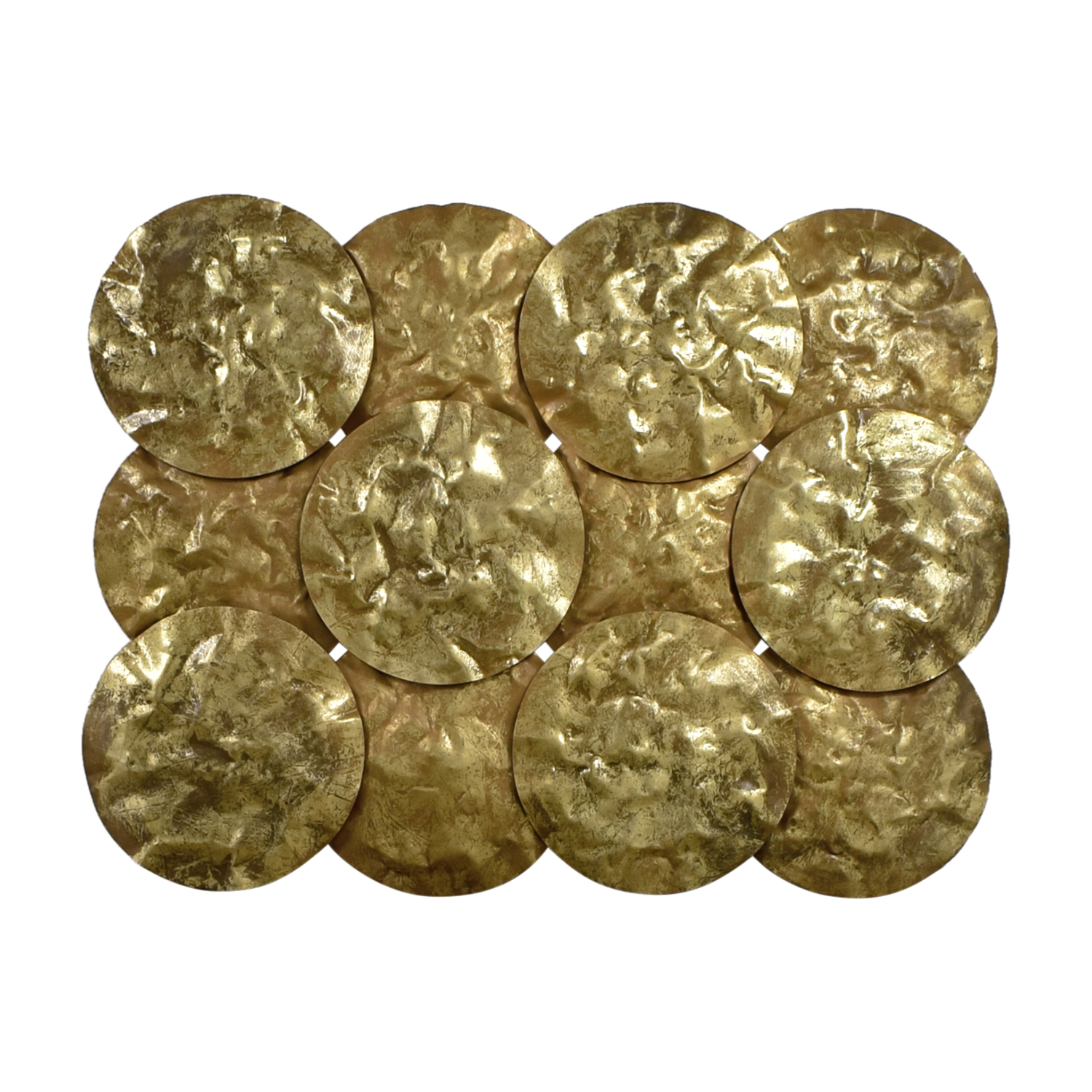 Gold Disks Wall Collage / Decorative Accents