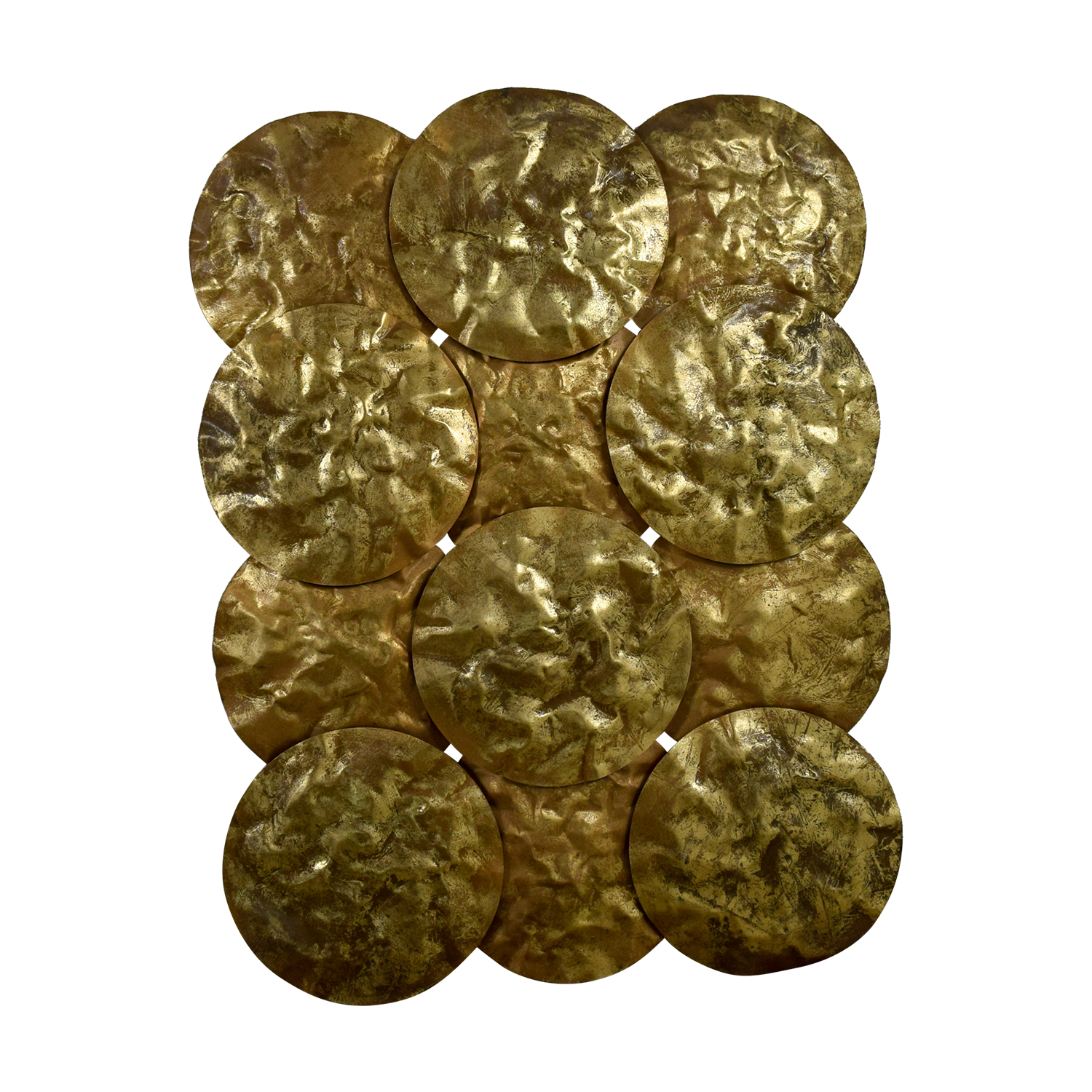 Gold Disks Wall Collage Decorative Accents