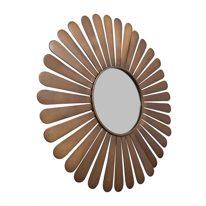 buy The Land of Nod Sunburst Bronze Wall Mirror The Land of Nod Decor