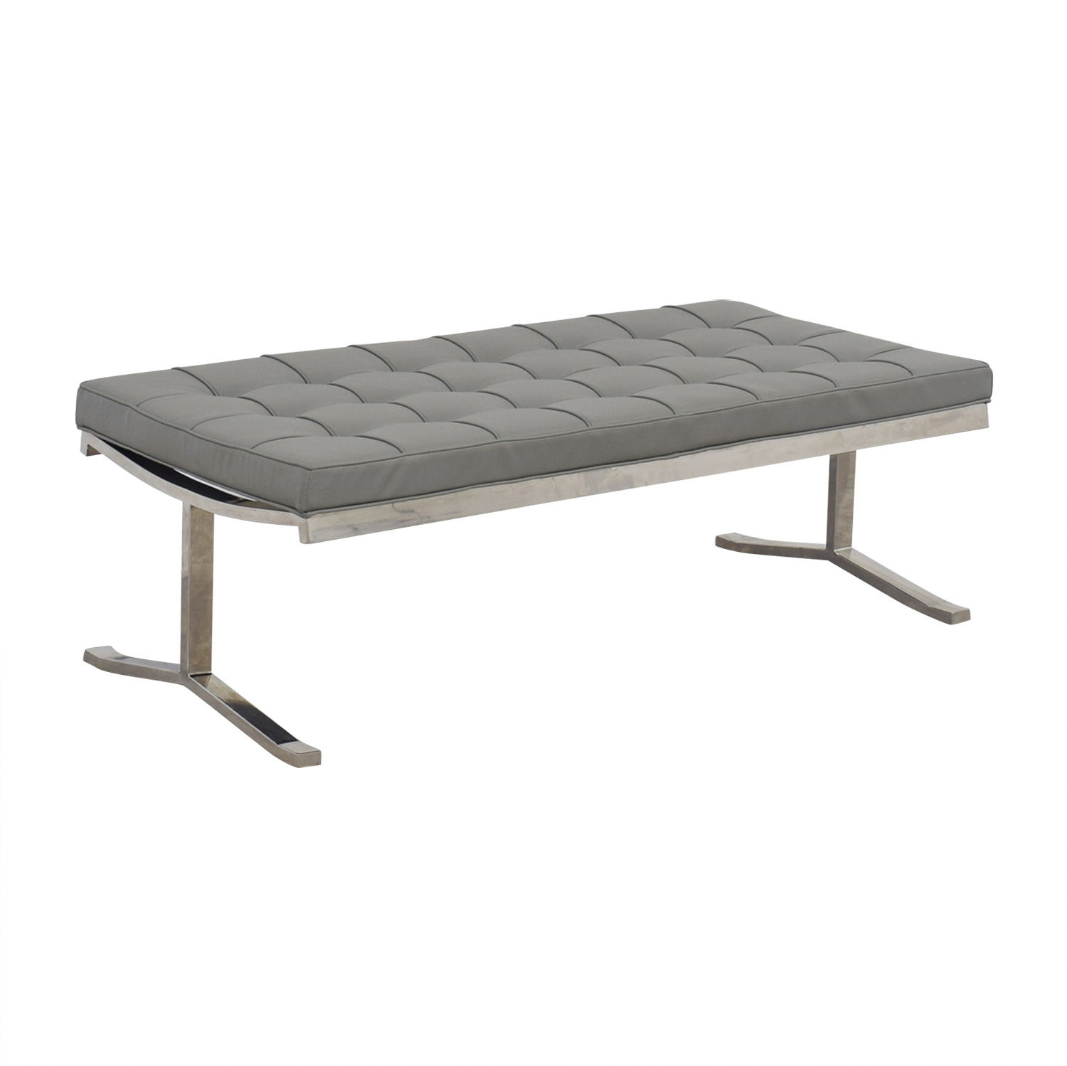 buy Tidaholm Grey Tufted Bench  Benches