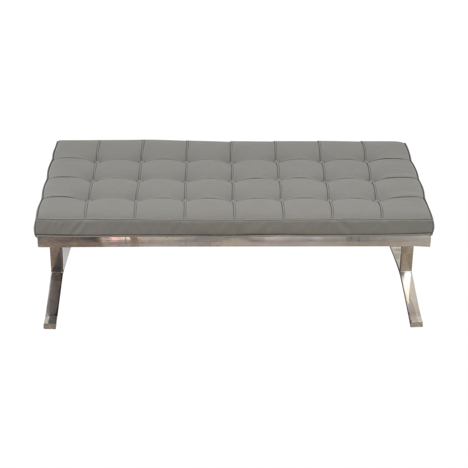 Tidaholm Grey Tufted Bench used