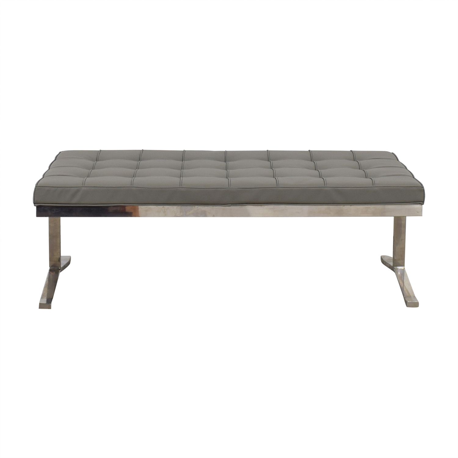 shop Tidaholm Grey Tufted Bench