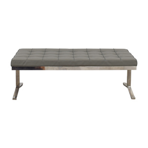 Tidaholm Grey Tufted Bench price