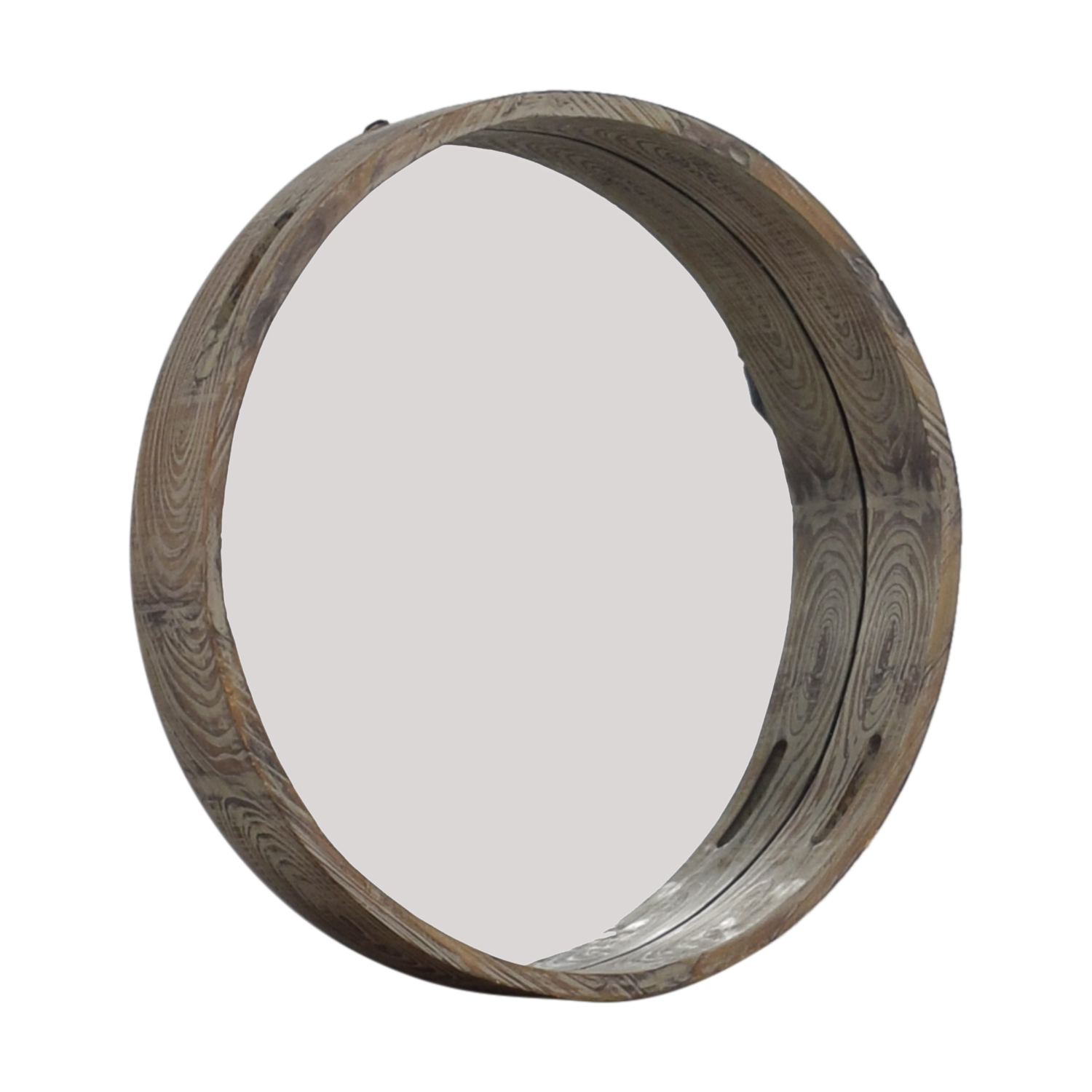 buy Mercana Industrial Deep Wood Inset Wall Mirror Mercana