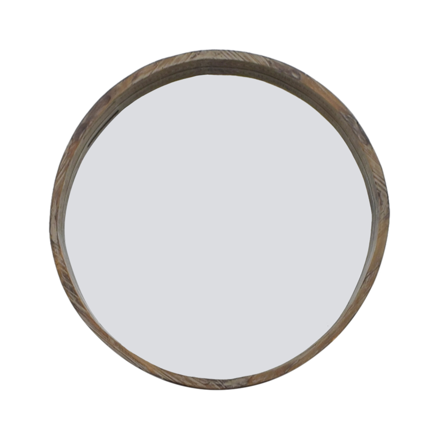 Mercana Mercana Industrial Deep Wood Inset Wall Mirror for sale