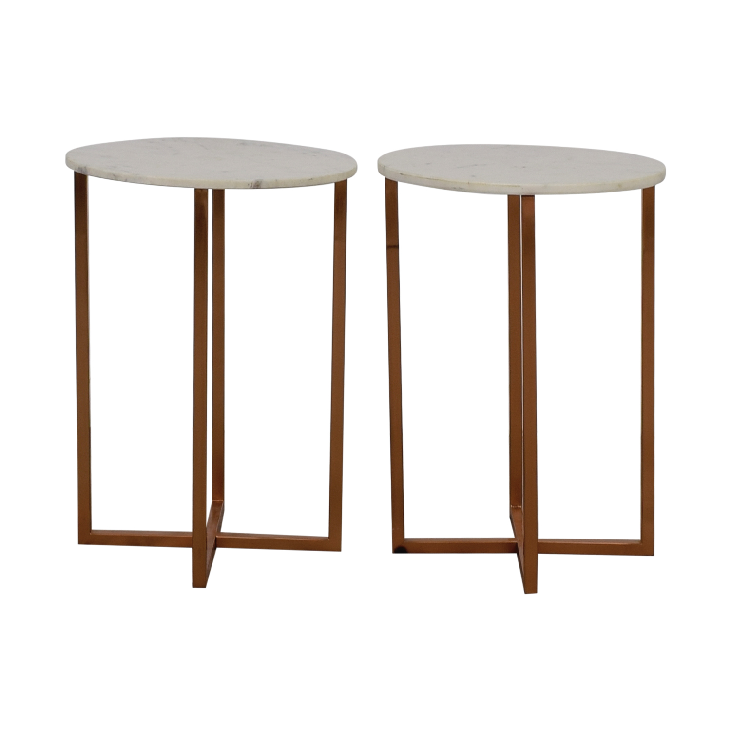 Marble Top Copper Accent Tables second hand