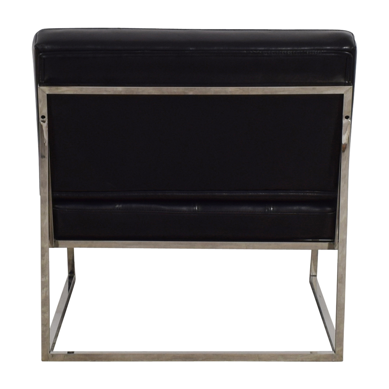 Brooklyn Black Leather Tufted Lounger Black
