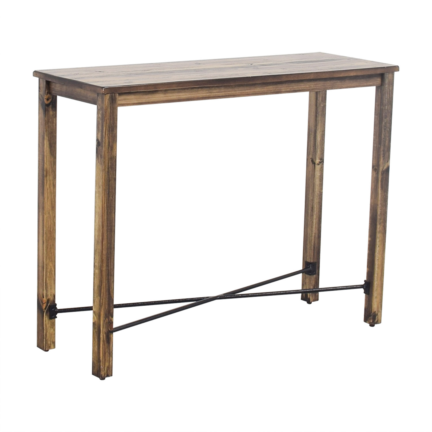 buy Iron Cross Bar Distressed Hardwood Console Table  Tables