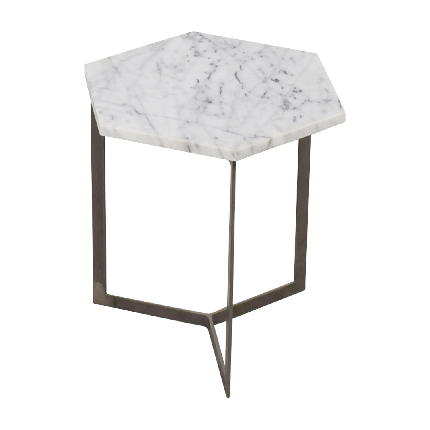 Marble Hexagonal Side Table dimensions