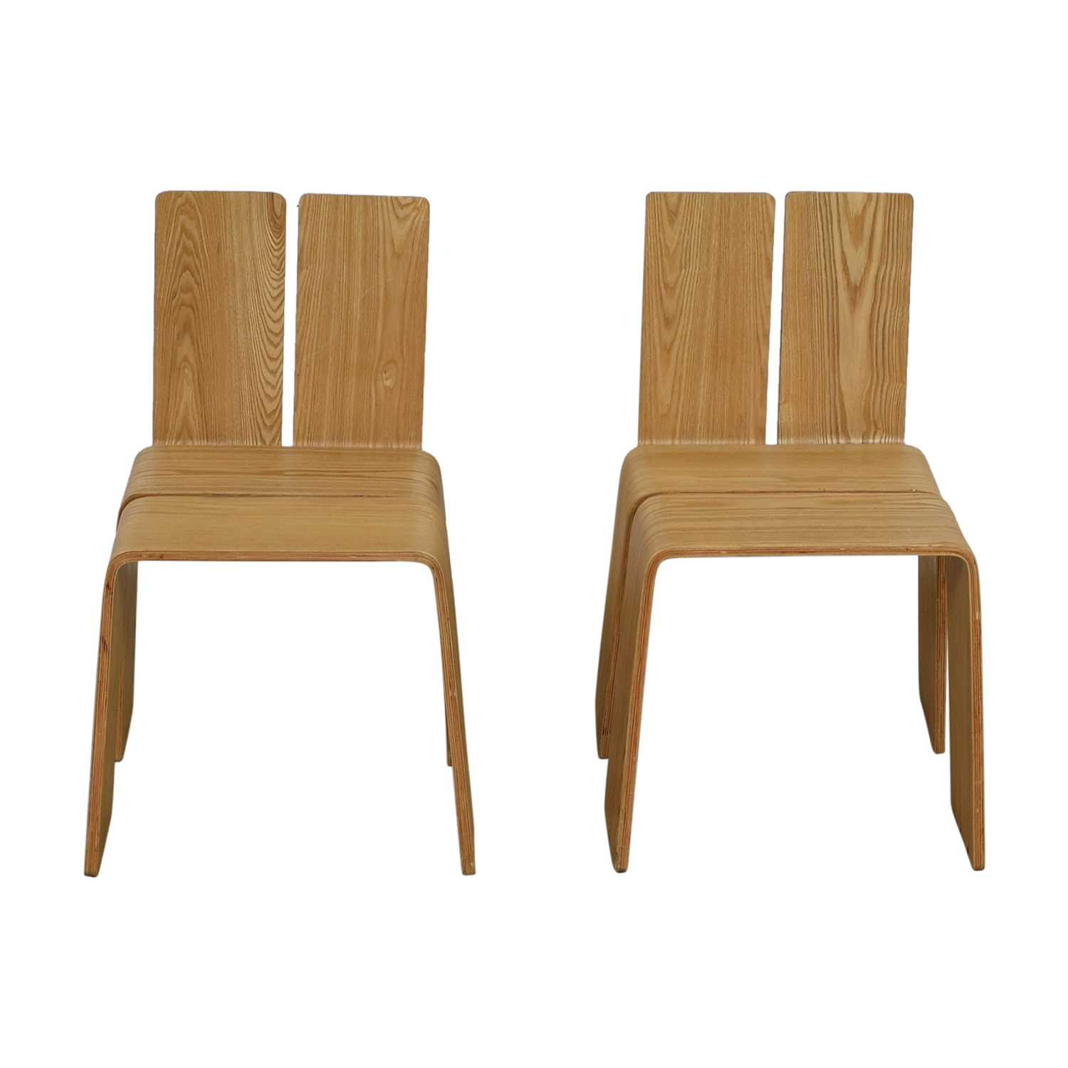 Contempo Natural Beech Wood Chairs for sale