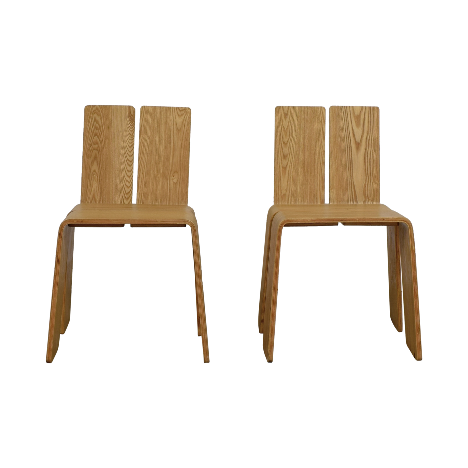 Contempo Natural Beech Wood Chairs Dining Chairs