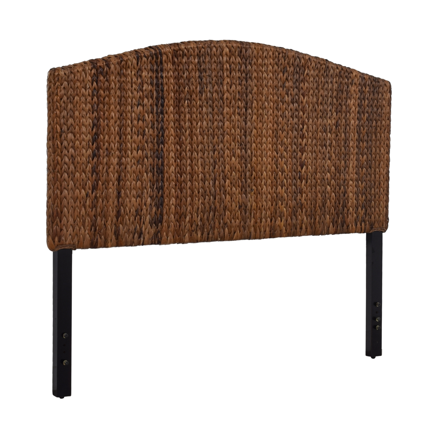 shop Espresso Banana Leaf Woven Queen Headboard