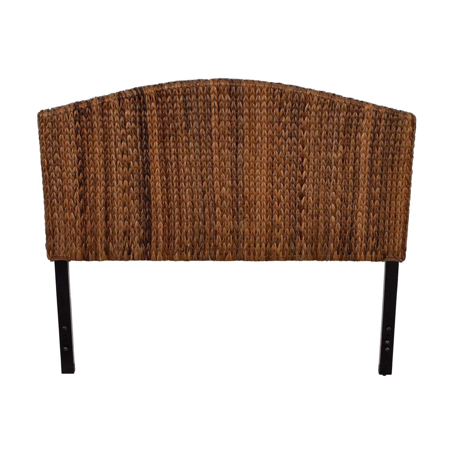 buy Espresso Banana Leaf Woven Queen Headboard