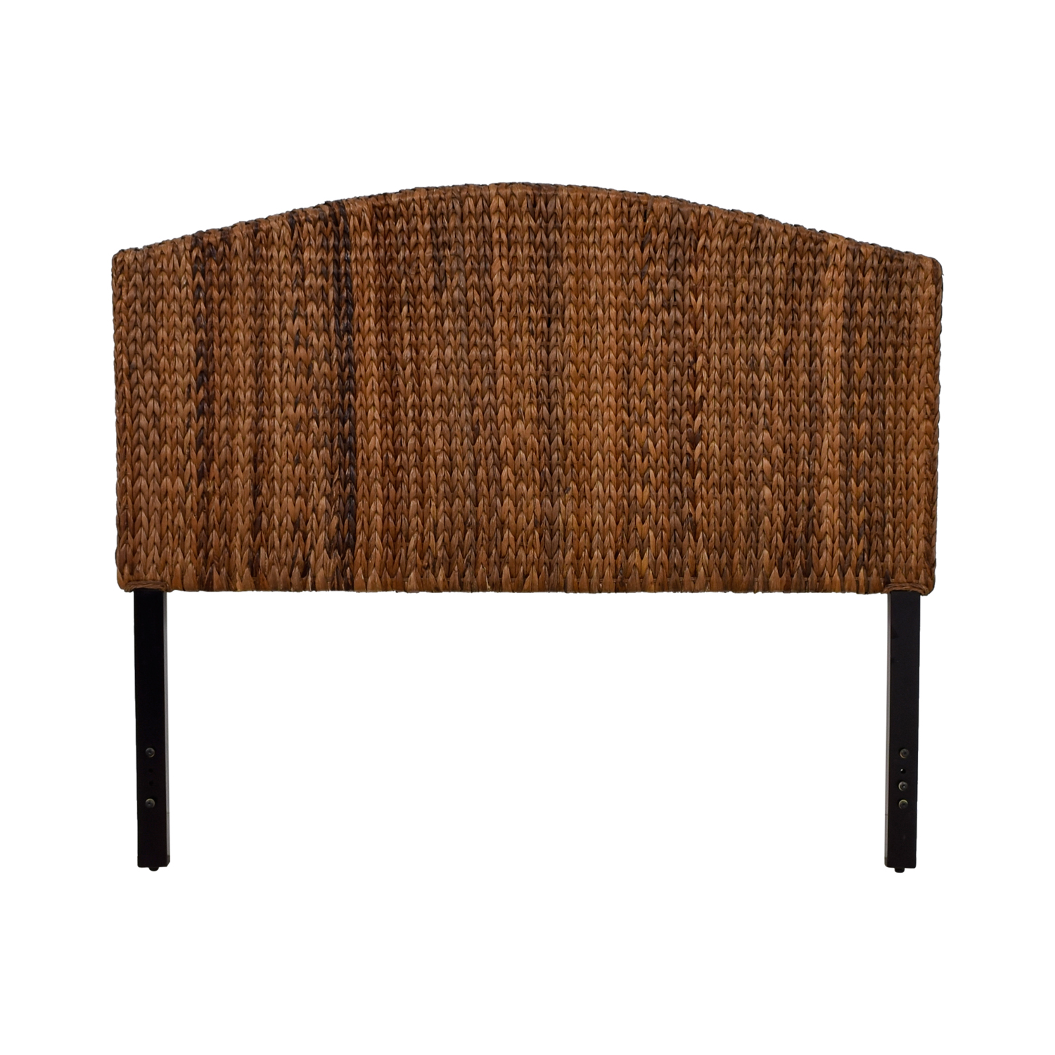 Espresso Banana Leaf Woven Queen Headboard