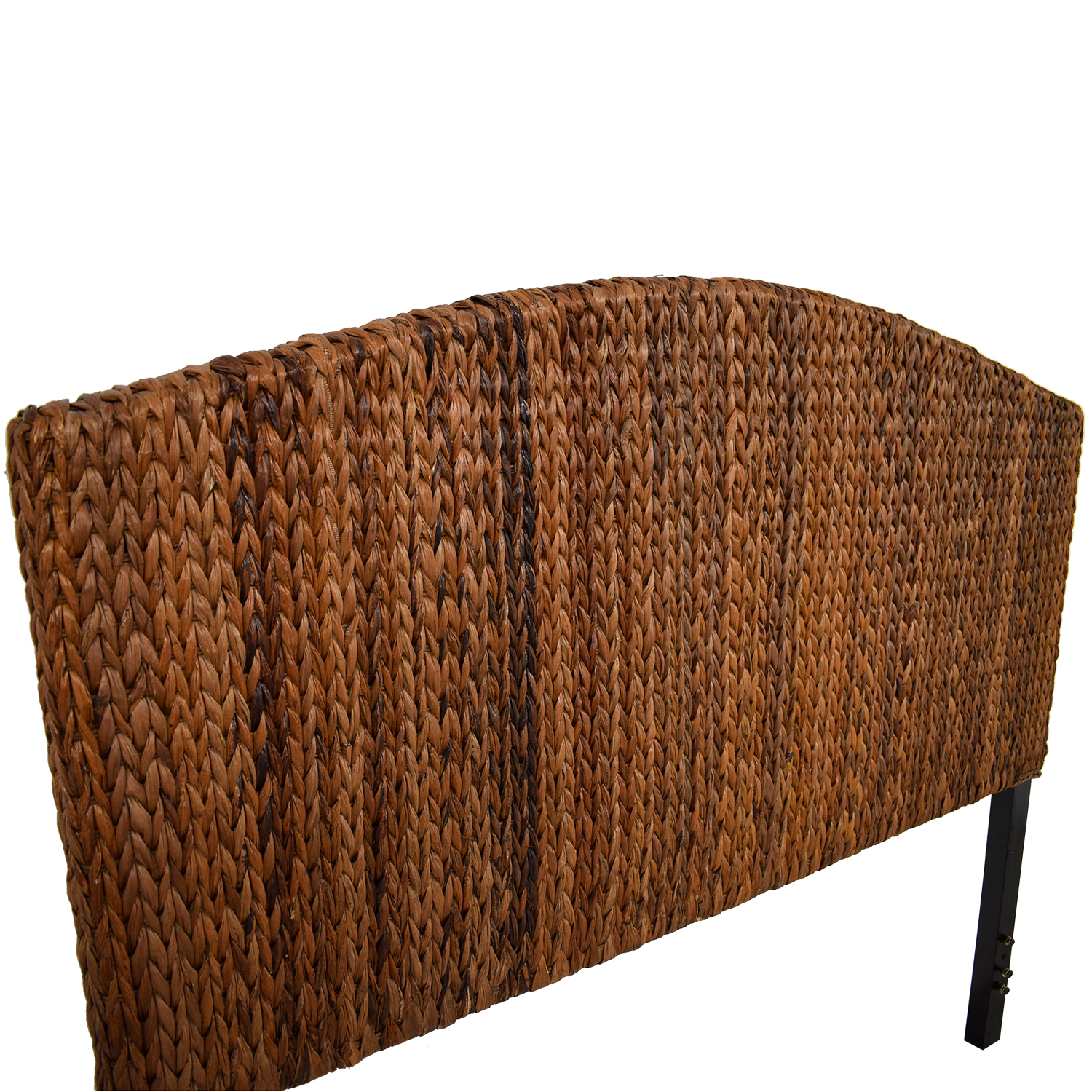 Espresso Banana Leaf Woven Queen Headboard second hand